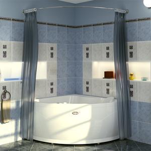 """Карниз Chrome для шторки на ванну """"Альтея"""""""