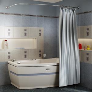 """Карниз Chrome для шторки на ванну """"Аризона"""""""