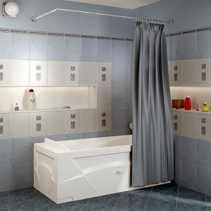 Карниз Г-образный (1700x750 мм) для шторки на прямоугольную ванну