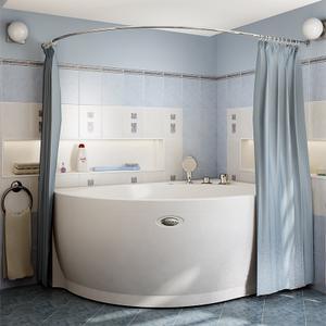 """Карниз Chrome для шторки на ванну """"Фиеста"""""""