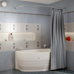 """Карниз Chrome для шторки на ванну """"Орсини"""""""