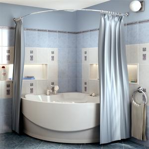 """Карниз Chrome для шторки на ванну """"Элджин"""""""