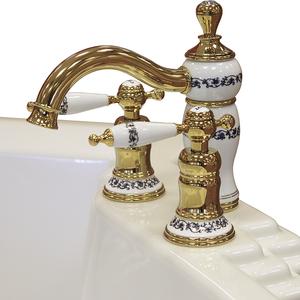 """Смеситель для ванны из пяти элементов """"Маджоре"""" Gold"""